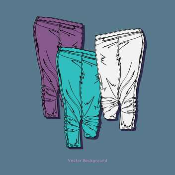 Set with multicolored pants vector icons - vector #128366 gratis