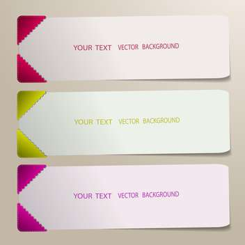 Set of three colorful banners for the text - Free vector #128386