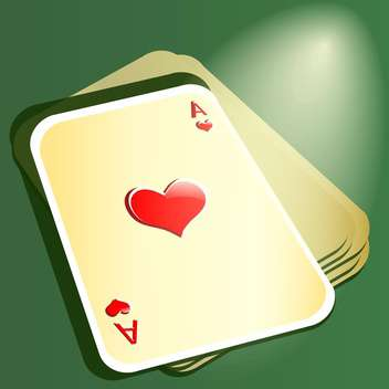 Red ace on stack with cards for poker - vector gratuit #128396