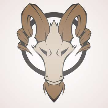 Mountain goat head vector illustration - бесплатный vector #128466