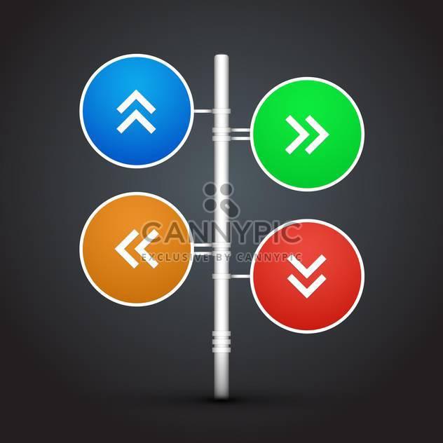 Vector set of colorful arrows - Free vector #128476