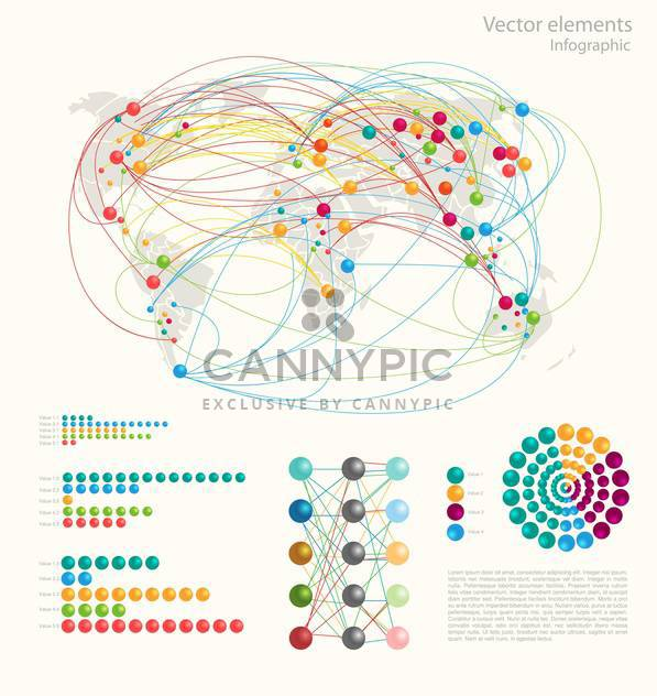 Vector set of Infographic Elements - Free vector #128486