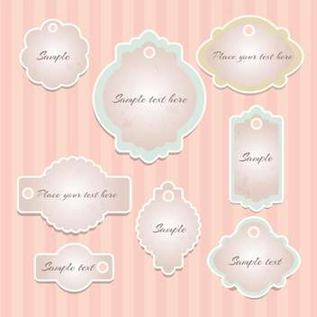 Vector set of vintage frames with sample text - Free vector #128516