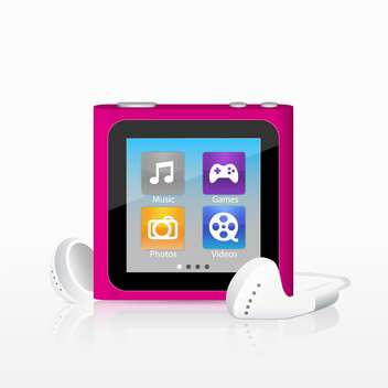 Vector illustration of mp3 player - vector gratuit #128556