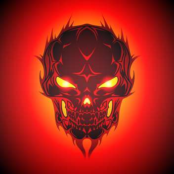 Vector illustration of burning skull - Free vector #128566