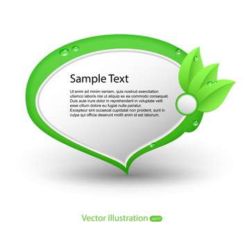 Vector illustration of eco banners with sample text - vector gratuit #128746