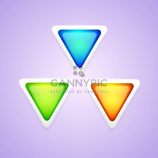 Vector set of colorful triangle buttons. - Free vector #128766