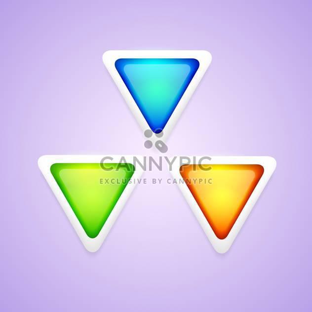 Vektor-Reihe von bunten Dreieck Tasten. - Kostenloses vector #128766