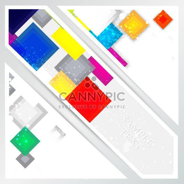 Vector abstract background with colorful squares. - Free vector #128796