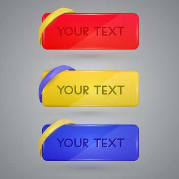 Vector set of colorful banners with sample text - vector gratuit #128846