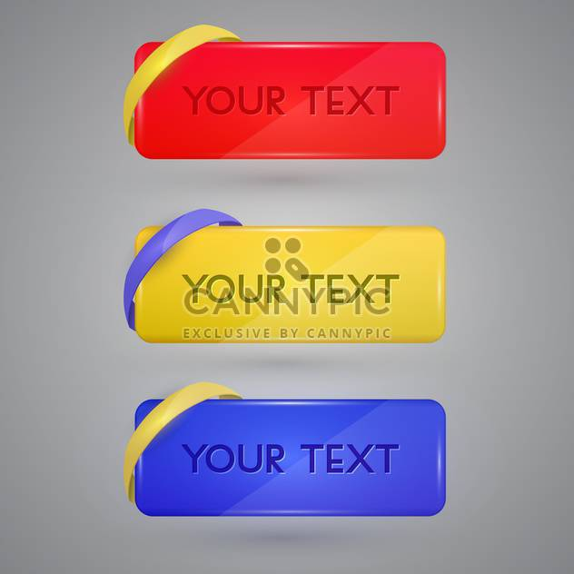 Vector set of colorful banners with sample text - Free vector #128846