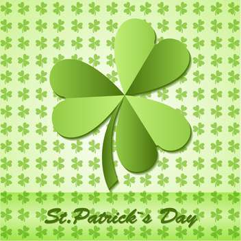 Shamrock on clover background for St Patrick's Day - vector gratuit #128856