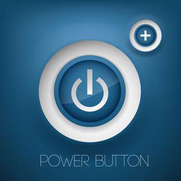 Vector blue power and plus buttons - vector gratuit #128886