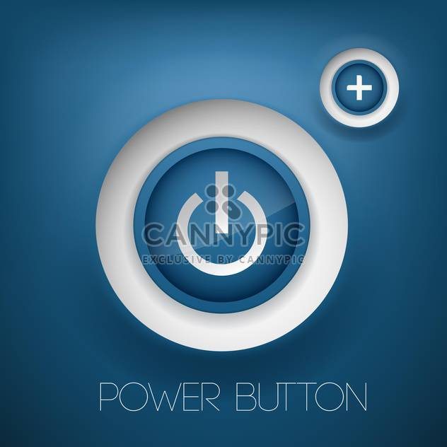 Vector blue power and plus buttons - Free vector #128886