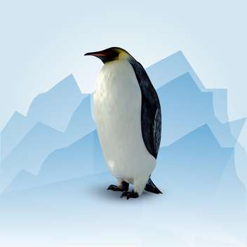Vector illustration of standing adult penguin - vector gratuit #128946
