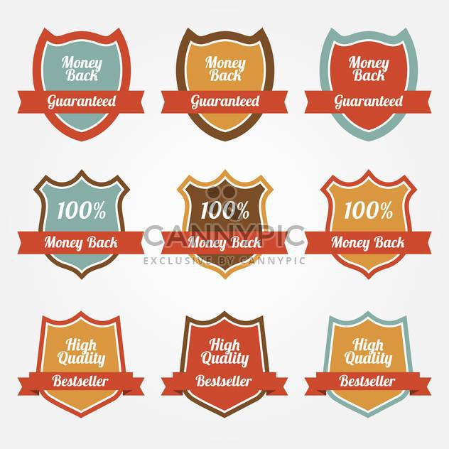 set of vector sale shields - Free vector #128966