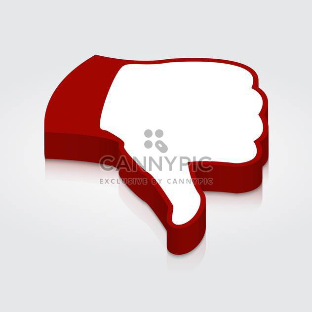 thumb down icon label - Free vector #128976