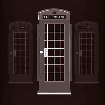 telephone booth vector illustration - vector gratuit(e) #129006
