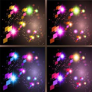 set of abstract holiday backgrounds - Free vector #129016