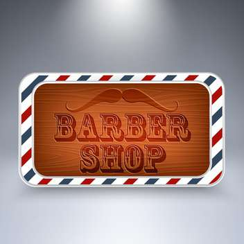 barber shop wooden board - vector gratuit #129056