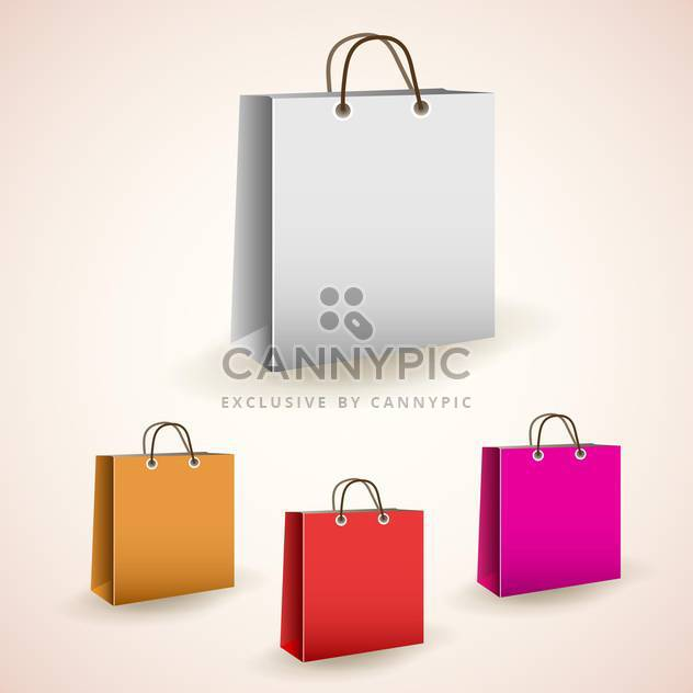 vector colorful shopping bags - Free vector #129096