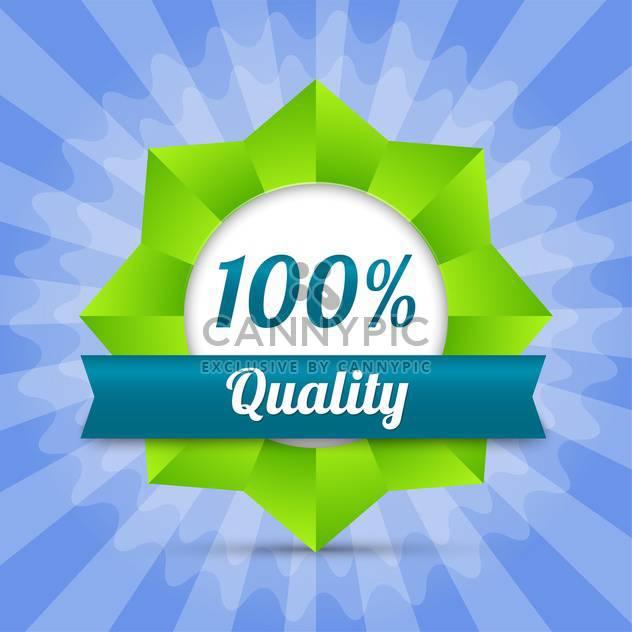 Vektor hundert Garantie Qualität Abzeichen - Kostenloses vector #129116