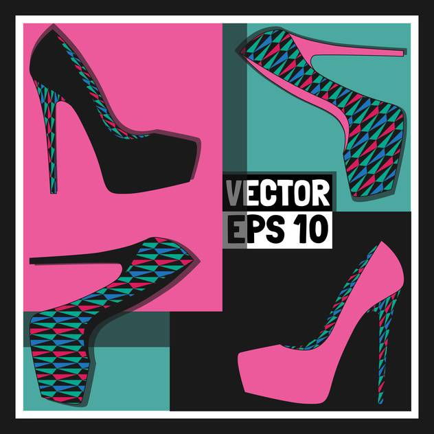 fashion female shoes set - Free vector #129146