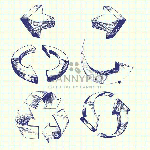 set of vector hand-drawn arrows - Free vector #129166