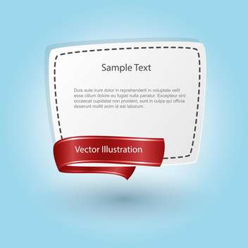 vector blank banner with ribbon - Free vector #129196