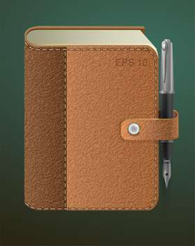 vector diary with fountain pen - vector #129216 gratis