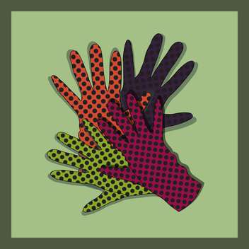 vector background with colorful gloves set - Free vector #129226