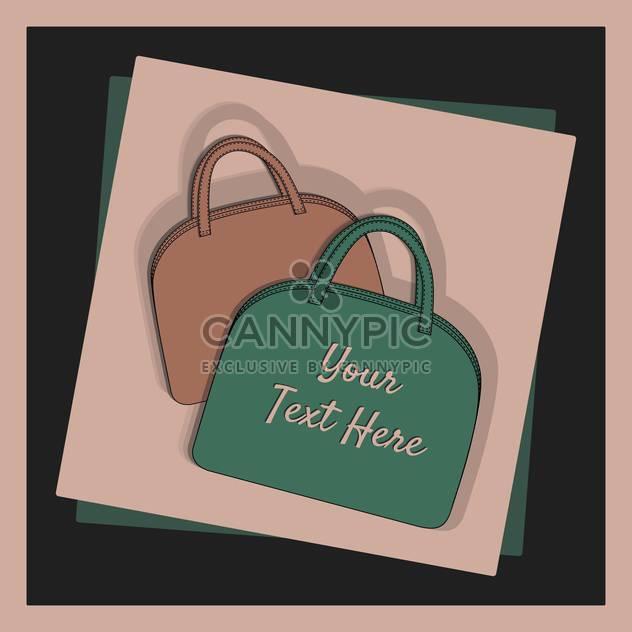 weibliche Mode-Taschen-set - Kostenloses vector #129266