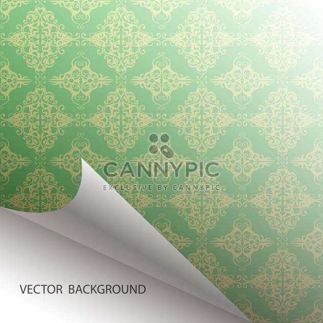 Vektor nahtlose grünem Damast Hintergrund - Free vector #129306