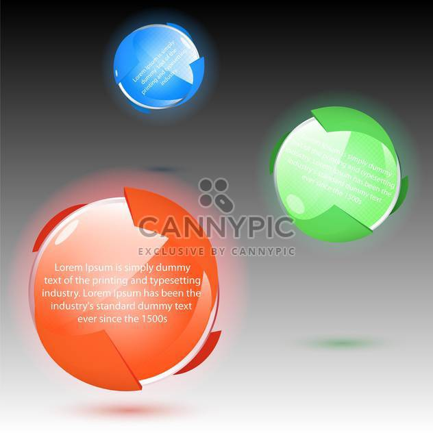 Vector set of colorful balls icons on gray background - Free vector #129396