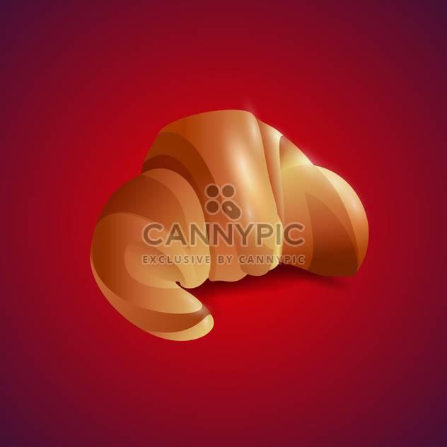 Vektor-Illustration von Croissant auf rotem Hintergrund - Free vector #129436