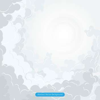Abstract vector clouds and sun illustration - vector gratuit #129466