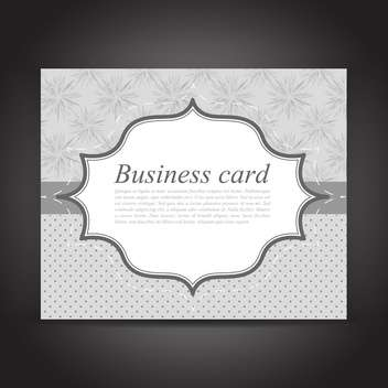 Gray vector business card on black background - Free vector #129556