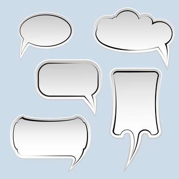 Speech and thought bubbles with space for text on blue background - vector gratuit #129576