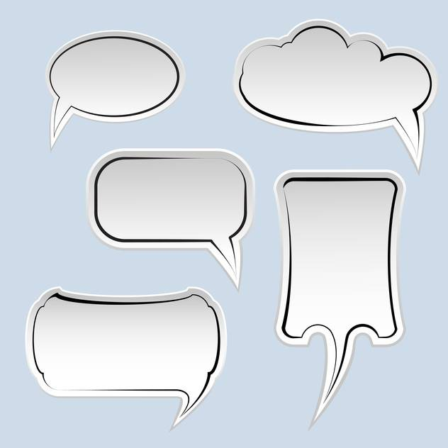 Speech and thought bubbles with space for text on blue background - бесплатный vector #129576