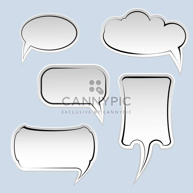 Speech and thought bubbles with space for text on blue background - Free vector #129576