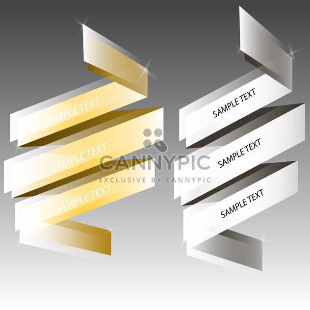 Vektor-Silber und goldene Bänder für Text auf grauem Hintergrund - Kostenloses vector #129816