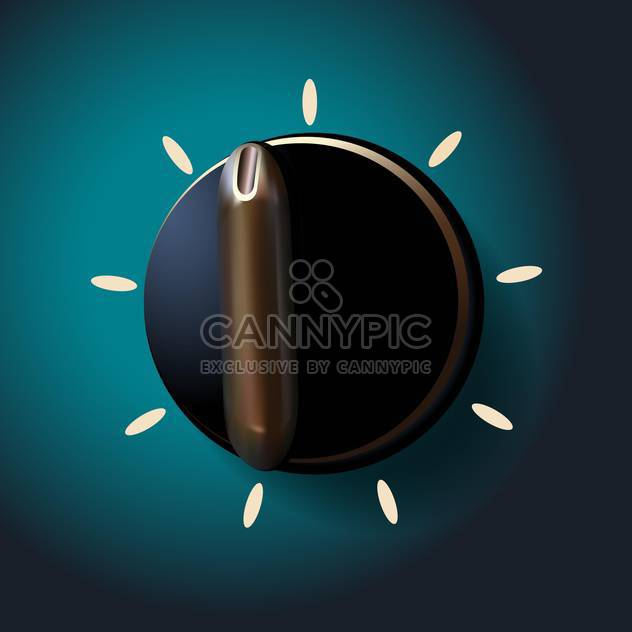 Vektor-Illustration der schwarze Runde wechseln auf grünem Hintergrund - Kostenloses vector #129846