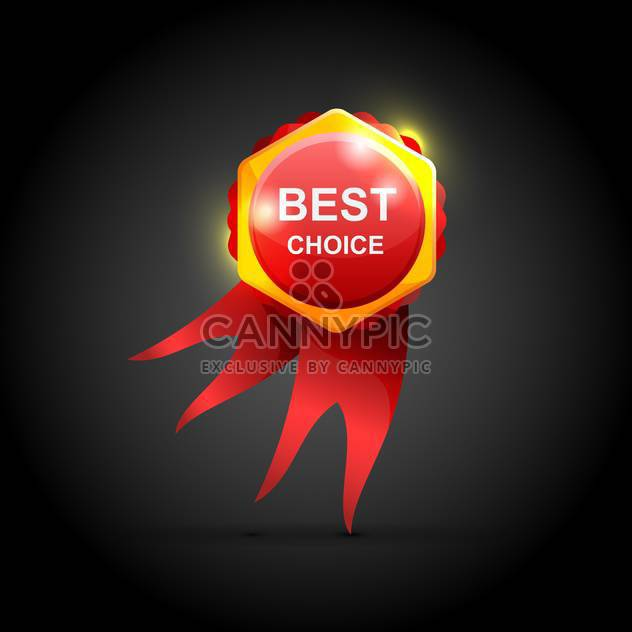 Vector best choice red label with ribbons - Free vector #129946