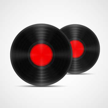 Vector illustration of two vinyl records - vector gratuit #129956