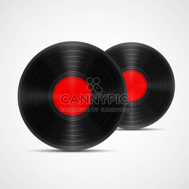 Vector illustration of two vinyl records - Free vector #129956