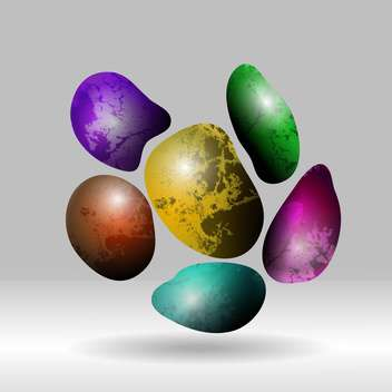 Set of vector colorful abstract stones - Free vector #129986