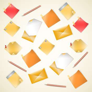 Vector set of office supplies on light background - Kostenloses vector #130006