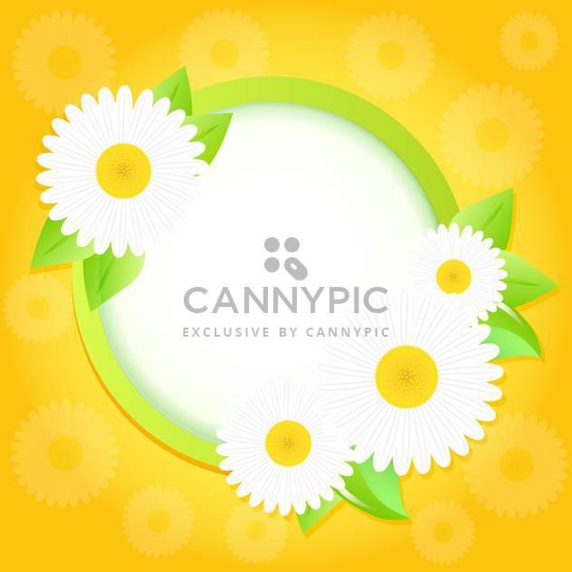 Frühling-Rahmen mit Blumen auf gelbem Hintergrund hell - Free vector #130056