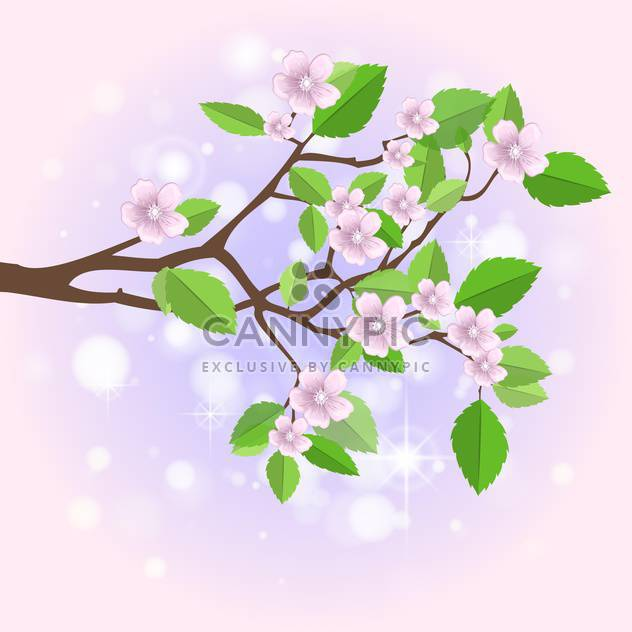 Vector illustration of spring branch - Free vector #130216