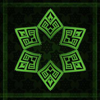 Vector illustration of abstract black background with green star - vector gratuit #130236
